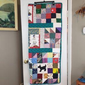 Handmade 48 x 41 puppy dog quilt